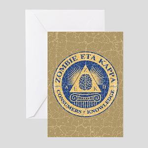Zombie Eta Kappa Greeting Cards (Pk of 10)
