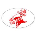 RedRosa Sticker (Oval 50 pk)