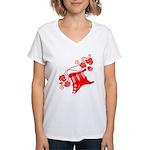 RedRosa Women's V-Neck T-Shirt