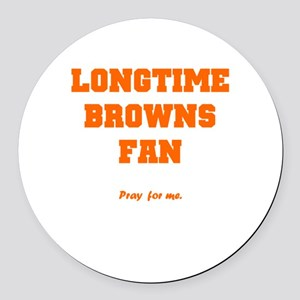 Browns Round Car Magnet