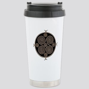 Norse Spiral Design Stainless Steel Travel Mug