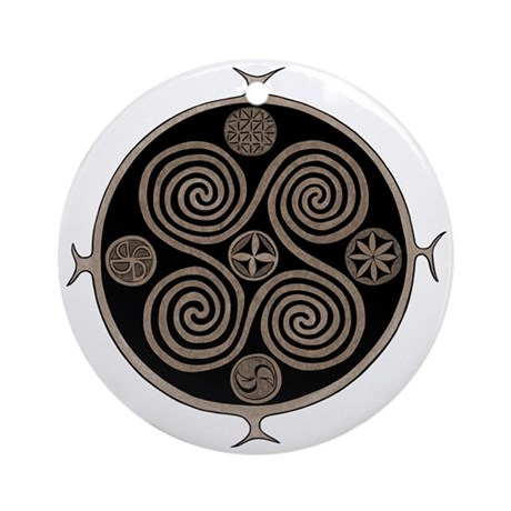 Norse Spiral Design Ornament (Round)
