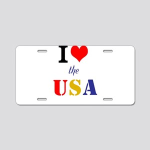 Love the USA Aluminum License Plate