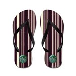 .::MoonDreams::. Love Wine Stripe Flip Flops