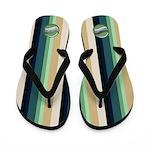 .::MoonDreams::. Aqua Brad Teal Stripe Flip Flops