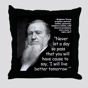 Young Live Quote 2 Throw Pillow