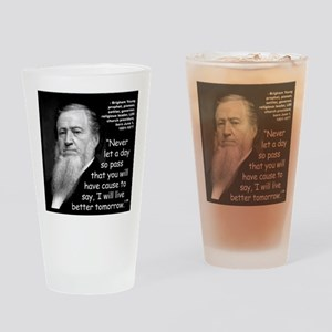 Young Live Quote 2 Drinking Glass