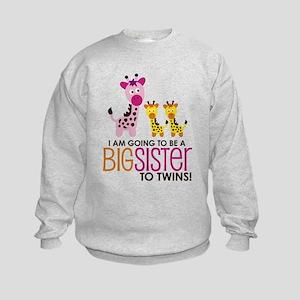 Giraffe Big Sister to Twins Sweatshirt