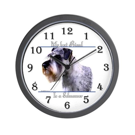 Schnauzer 3 Wall Clock