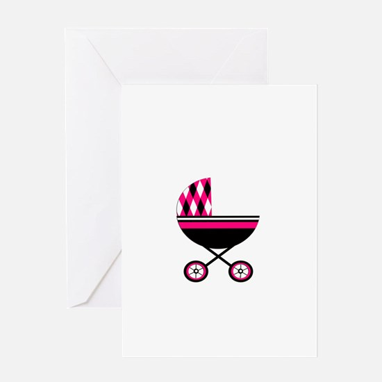 Pink Stroller.png Greeting Card