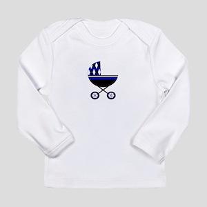 Blue Stroller Long Sleeve Infant T-Shirt