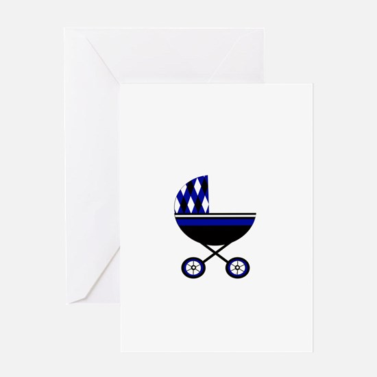 Blue Stroller.png Greeting Card