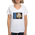 Golden Retriever Women's V-Neck T-Shirt