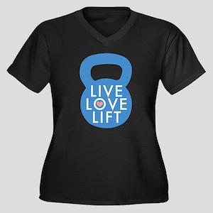 Blue Live Love Lift Women's Plus Size V-Neck Dark