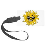 Smiley Face Sun Large Luggage Tag