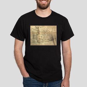 Vintage Map of Washington State (1866) T-Shirt