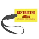 Restricted Area Large Luggage Tag
