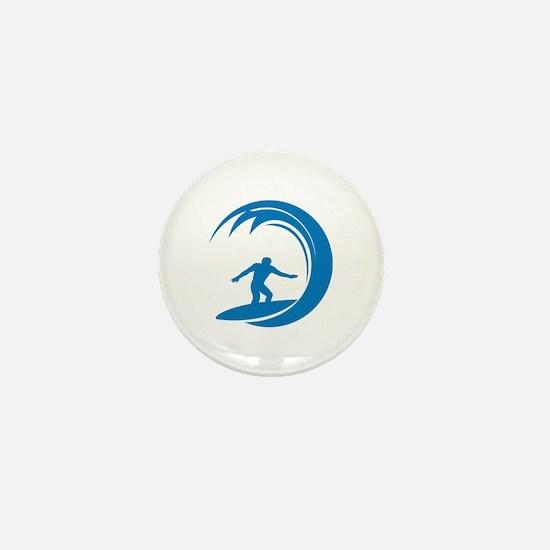 Surfing Mini Button