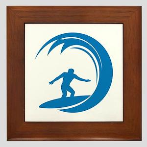 Surfing Framed Tile