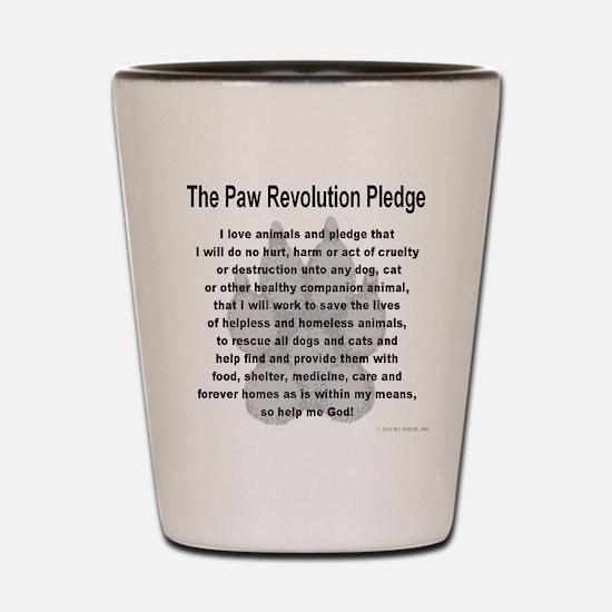 The Paw Revolution Pledge Shot Glass