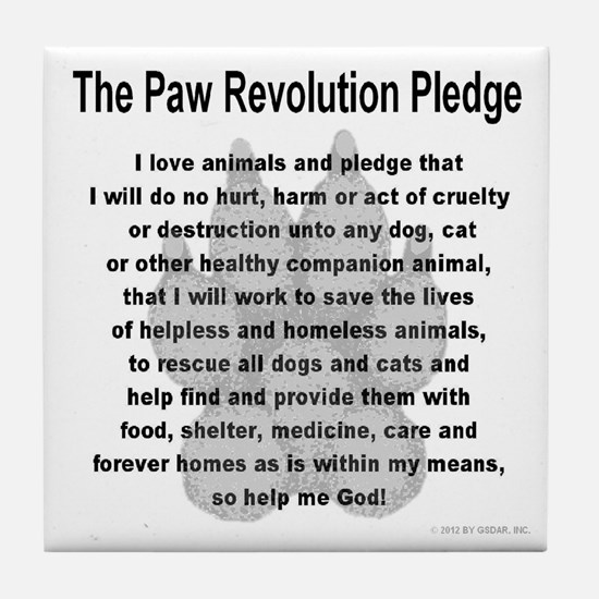 The Paw Revolution Pledge Tile Coaster