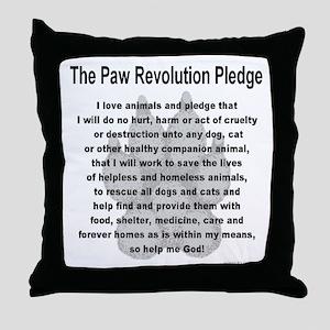 The Paw Revolution Pledge Throw Pillow