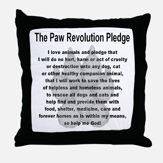 The Paw Revolution Pledge Throw Pillow