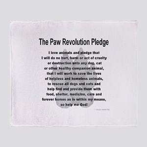The Paw Revolution Pledge Throw Blanket