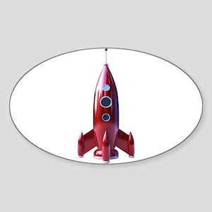 rocketship Sticker (Oval)