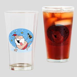 Drunk Santa Drinking Glass