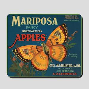 Mariposa Butterfly Fruit Crat Mousepad