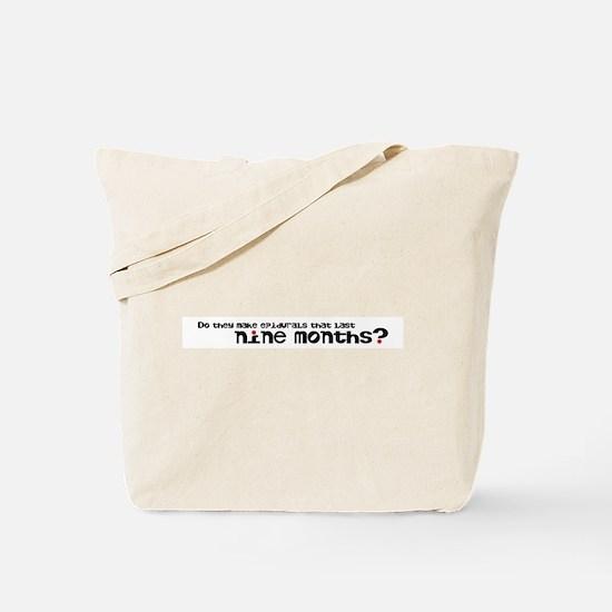 Nine Month Epidural Tote Bag