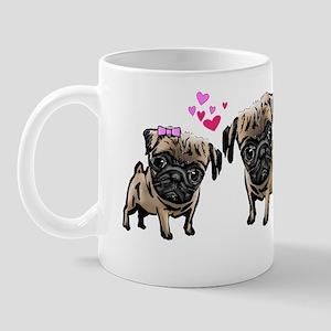 Valentine Pugs Mug
