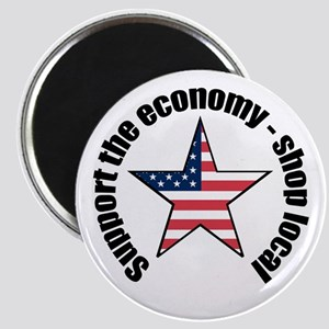 Support the economy - shop local Magnet
