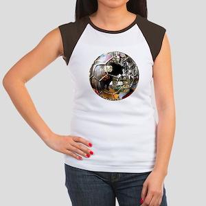 Culture of Spain Soccer Ball Women's Cap Sleeve T-