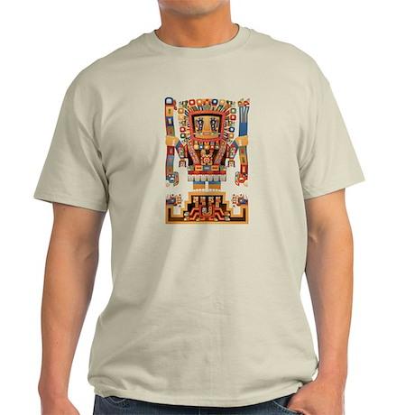 Viracocha Creator God of Tiwanaku Light T-Shirt