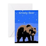 Winter Grizzly Bear Greeting Card
