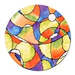 Carnival Balloons Round Car Magnet