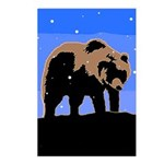 Winter Grizzly Bear Postcards (Package of 8)