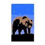 Winter Grizzly Bear 20x12 Wall Decal