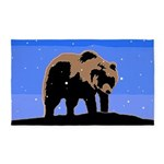 Winter Grizzly Bear Area Rug