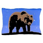 Winter Grizzly Bear Pillow Case