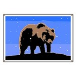Winter Grizzly Bear Banner