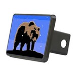 Winter Grizzly Bear Rectangular Hitch Cover