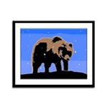 Winter Grizzly Bear Framed Panel Print
