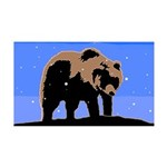 Winter Grizzly Bear 35x21 Wall Decal