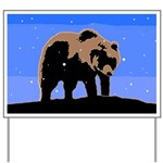 Winter Grizzly Bear Yard Sign