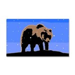 Winter Grizzly Bear Car Magnet 20 x 12