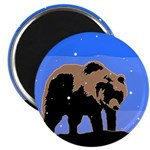 Winter Grizzly Bear Magnet