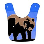 Winter Grizzly Bear Polyester Baby Bib
